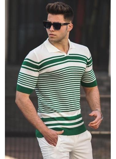 Madmext   Polo Yaka Erkek Tişört 5083 Yeşil